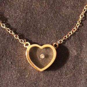Jewelry - 14k floating diamond heart necklace